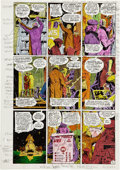 Original Comic Art:Miscellaneous, John Higgins Watchmen page 21 Color Guide Production Art(DC, 1986)....