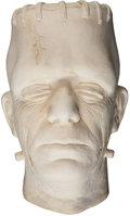 Movie/TV Memorabilia:Original Art, Glenn Strange Frankenstein Life Mask....