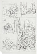 Original Comic Art:Miscellaneous, John Buscema Kull Preliminary Page 7 Original Art (Marvel,undated)....