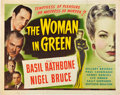 """Movie Posters:Mystery, The Woman in Green (Universal, 1945). Half Sheet (22"""" X 28"""").. ..."""