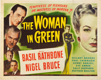 "The Woman in Green (Universal, 1945). Half Sheet (22"" X 28"")"