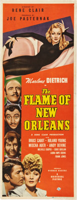 """The Flame of New Orleans (Universal, 1941). Insert (14"""" X 36"""")"""