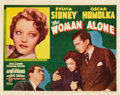 "Movie Posters:Hitchcock, The Woman Alone (Gaumont, 1937). Title Lobby Card (11"" X 14"").. ..."