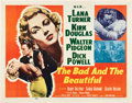 "Movie Posters:Drama, The Bad and the Beautiful (MGM, 1953). Half Sheet (22"" X 28"") Style A.. ..."