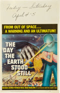 "Movie Posters:Science Fiction, The Day the Earth Stood Still (20th Century Fox, 1951). Window Card(14"" X 22"").. ..."
