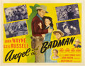 "Movie Posters:Western, Angel and the Badman (Republic, 1947). Half Sheet (22"" X 28"") Style B.. ..."