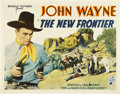 "Movie Posters:Western, The New Frontier (Republic, 1935). Half Sheet (22"" X 28"").. ..."