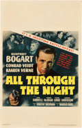 "Movie Posters:Action, All Through the Night (Warner Brothers, 1942). Window Card (14"" X22"").. ..."