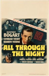 "All Through the Night (Warner Brothers, 1942). Window Card (14"" X 22"")"