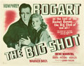 "Movie Posters:Crime, The Big Shot (Warner Brothers, 1942). Half Sheet (22"" X 28"") StyleB.. ..."