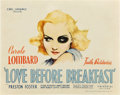 """Movie Posters:Comedy, Love Before Breakfast (Universal, 1936). Title Lobby Card (11"""" X14"""").. ..."""