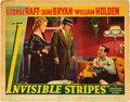 """Movie Posters:Crime, Invisible Stripes (Warner Brothers, 1939). Lobby Card (11"""" X 14"""").. ..."""