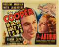 "Movie Posters:Comedy, Mr. Deeds Goes to Town (Columbia, 1936). Title Lobby Card (11"" X14"").. ..."