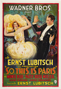 """So This is Paris (Warner Brothers, 1926). One Sheet (27"""" X 41"""")"""
