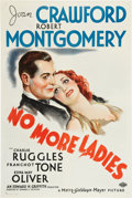 "Movie Posters:Comedy, No More Ladies (MGM, 1935). One Sheet (27"" X 41"") Style C.. ..."