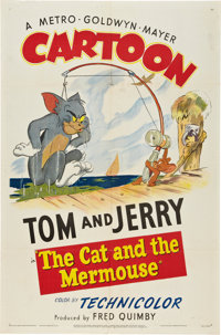 "The Cat and the Mermouse (MGM, 1949). One Sheet (27"" X 41"")"