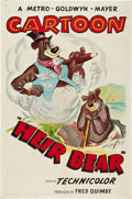 "Movie Posters:Animated, Heir Bear (MGM, 1953). One Sheet (27"" X 41"").. ..."