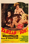 "Movie Posters:Adventure, Tarzan Finds a Son (MGM, 1939). Midget Window Card (8"" X 12"").. ..."