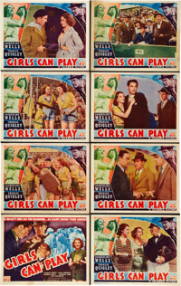 """Girls Can Play (Columbia, 1937). Lobby Card Set of 8 (11"""" X 14""""). ... (Total: 8 Items)"""