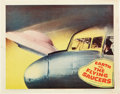 """Movie Posters:Science Fiction, Earth vs. the Flying Saucers (Columbia, 1956). Lobby Card (11"""" X14"""").. ..."""