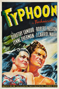 "Movie Posters:Adventure, Typhoon (Paramount, 1940). One Sheet (27"" X 41"").. ..."