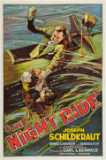 "Movie Posters:Thriller, The Night Ride (Universal, 1930). One Sheet (27"" X 41"").. ..."