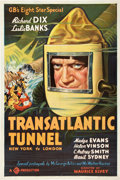 """Movie Posters:Science Fiction, The Transatlantic Tunnel (Gaumont, 1935). One Sheet (27"""" X 41"""")....."""