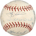 Baseball Collectibles:Balls, 1963 New York Yankees Team Signed Baseball....
