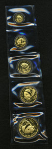 China:People's Republic of China, China: People's Republic of China. Gold Panda Set 1987.... (Total: 5 coins)