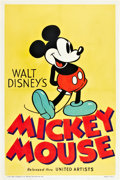 "Movie Posters:Animated, Mickey Mouse Stock Poster (United Artists, 1935). One Sheet (27"" X 41"").. ..."