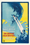 "Movie Posters:Serial, The Crimson Stain Mystery (Metro, 1916). One Sheet (27"" X 41""). Episode 1 -- ""The Brand of Satan."". ..."