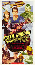 "Movie Posters:Serial, Flash Gordon Conquers the Universe (Universal International, R-Late 1940s). Three Sheet (41"" X 81"").. ..."