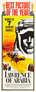 "Movie Posters:War, Lawrence of Arabia (Columbia, 1962). Insert (14"" X 36"") AcademyAwards Style B.. ..."