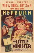 "Movie Posters:Drama, The Little Minister (RKO, 1934). Window Card (14"" X 22"").. ..."