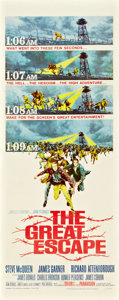 """Movie Posters:War, The Great Escape (United Artists, 1963). Insert (14"""" X 36"""").. ..."""