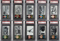 Baseball Cards:Lots, 1971 Topps Greatest Moments PSA NM-MT 8 Collection (10). ...
