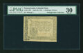 Colonial Notes:Pennsylvania, Pennsylvania April 20, 1781 2s/6d PMG Very Fine 30....