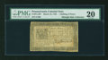 Colonial Notes:Pennsylvania, Pennsylvania March 16, 1785 1s/6d PMG Very Fine 20....