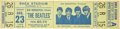 Music Memorabilia:Tickets, The Beatles Unused Shea Stadium 1966 Concert Ticket....