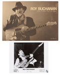 Music Memorabilia:Autographs and Signed Items, Roy Buchanan Signed Photo and Tour Book.... (Total: 2 )