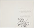 Music Memorabilia:Autographs and Signed Items, Beatles Related - Paul McCartney Signed Birthday Card....