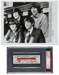 Music Memorabilia:Tickets, The Beatles 1965 Chicago Concert Ticket with Photo.... (Total: 2 )