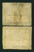 Colonial Notes:Maryland, Two Maryland Colonial Notes.... (Total: 2 notes)