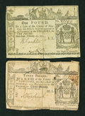 Colonial Notes:New York, Two New York February 16, 1771 Notes.... (Total: 2 notes)