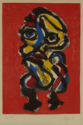 Impressionism & Modernism:Abstraction, KAREL APPEL (Dutch, 1921-2006). Personnage, 1975. Colorlithograph. 25 x 17-1/2 inches (63.5 x 44.5 cm). Ed. 34/99. Sign...