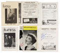 Movie/TV Memorabilia:Autographs and Signed Items, Rodgers & Hammerstein, Gene Kelly, and Others AutographedPlaybills from the 1930s and '40s.... (Total: 6 Items)