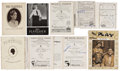 Movie/TV Memorabilia:Autographs and Signed Items, Ethel Barrymore, Henry Fonda, and Others Autographed Playbills fromthe 1920s-'30s.... (Total: 9 Items)