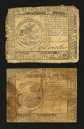 Colonial Notes:Continental Congress Issues, Two Continental Currency November 2, 1776 Notes.... (Total: 2notes)