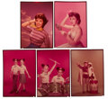 Movie/TV Memorabilia:Photos, Annette Funicello and Other Mickey Mouse Club-Related RareColor Transparencies by Roger Davidson.... (Total: 5 Items)