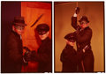Movie/TV Memorabilia:Photos, Bruce Lee and Van Williams Rare Green Hornet Transparencies by Roger Davidson.... (Total: 2 Items)